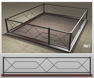 Ограда металлическая МО-1